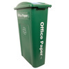 Hallway Recycling Bin for Office Paper - angle view