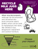 """Recycle Your Milk Jugs Sign - 8.5"""" x 11"""" - Download"""