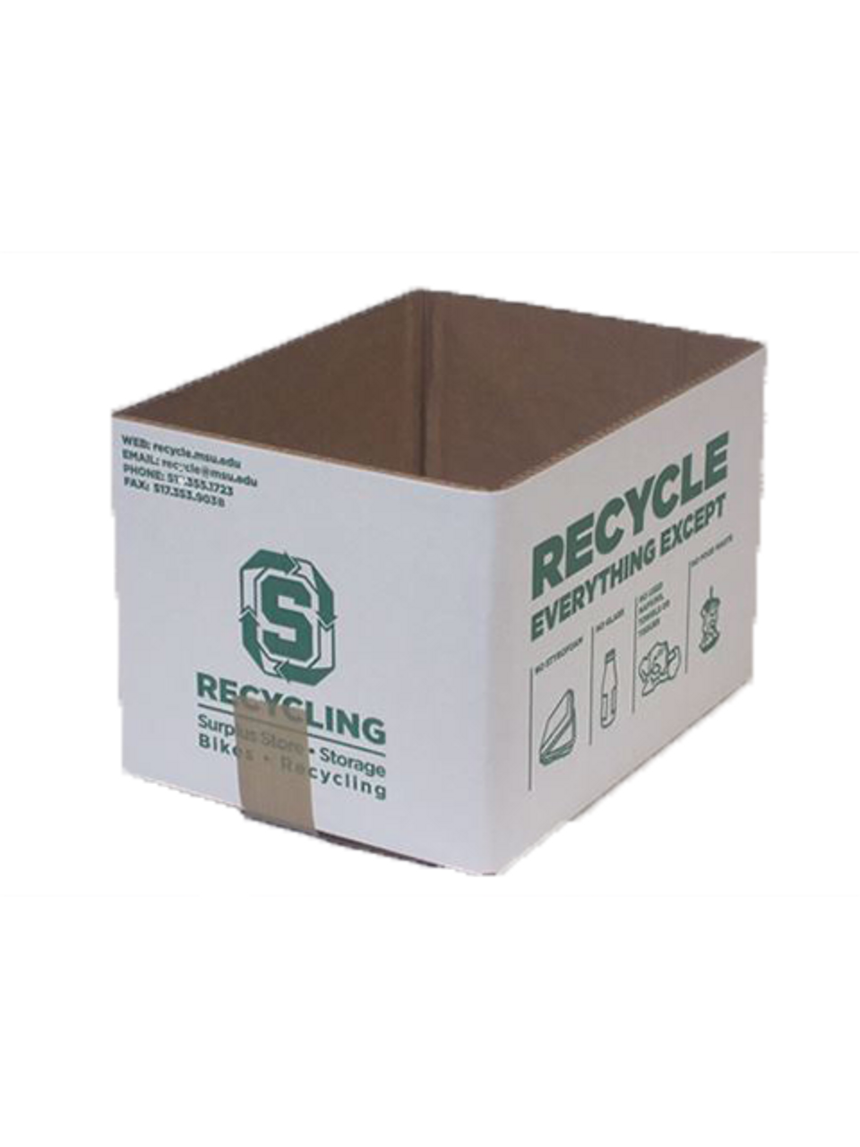 Office Paper At-Desk Recycling Container