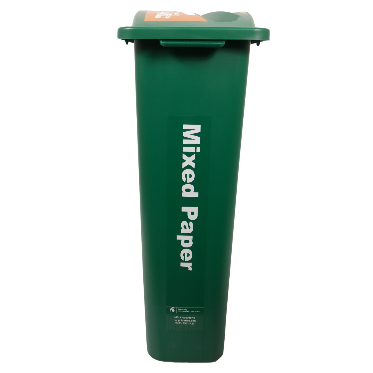 Hallway Recycling Bin for Mixed Paper - narrow view