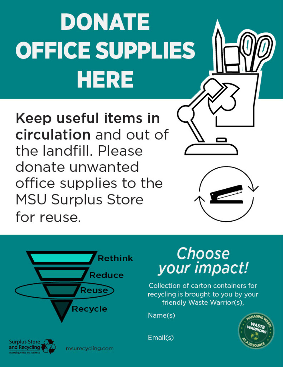 """Donate Office Supplies - 8.5"""" x 11"""" - Download"""