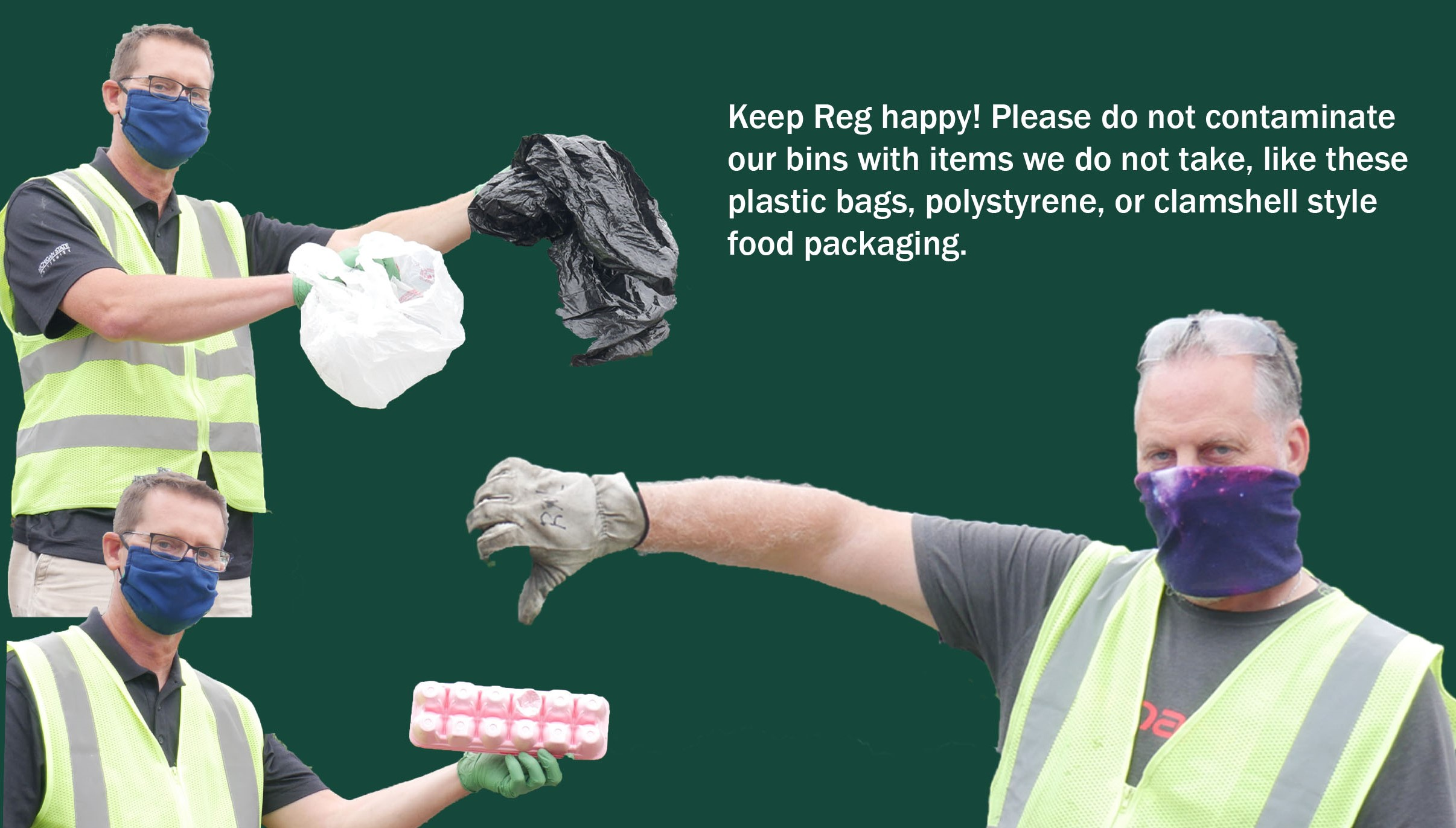 Please, keep recyclables tidy!