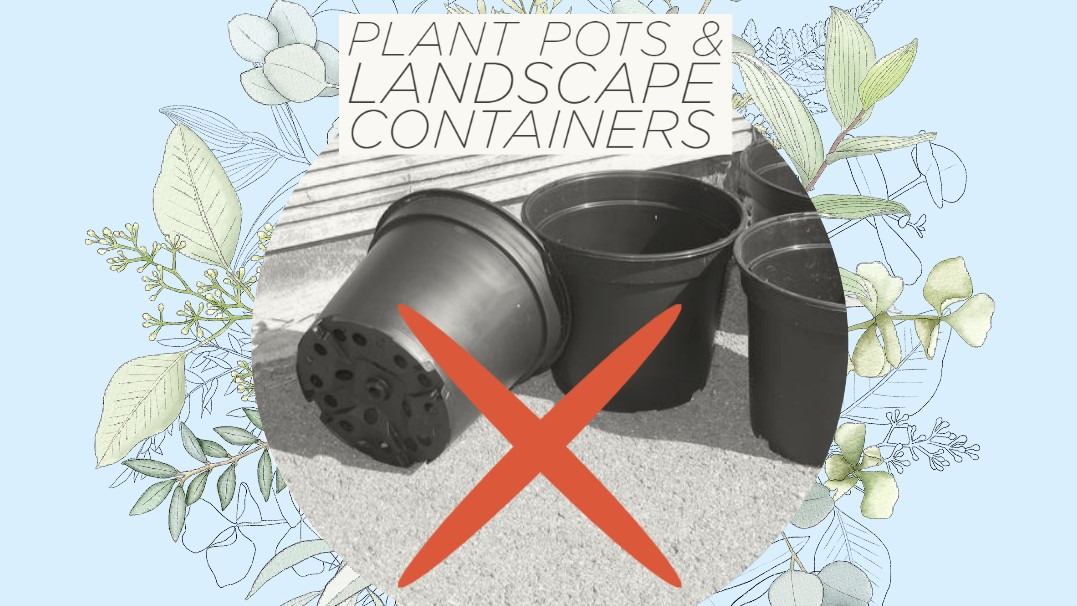 Recycling Reminder: Landscape plastics not accepted at Drop-Off Center
