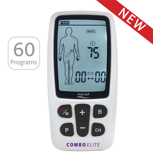 3-in-1 TENS, EMS, Massager with Body Mapping & USB Rechargeable
