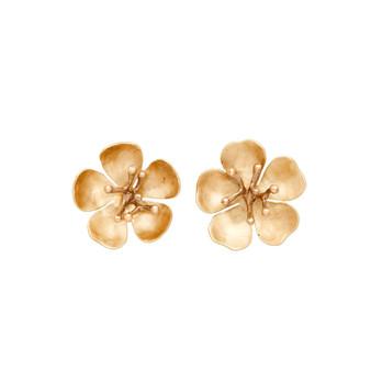 Cherry Blossom Bronze Earrings