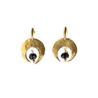 Arco Black Spinel Earrings