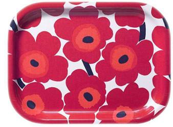Marimekko Red Poppy Tray