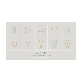 Clip Art Historical Paper Clips