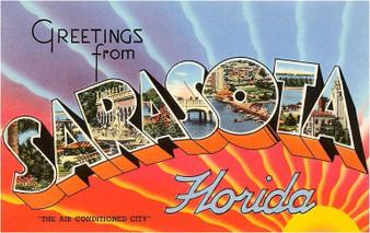Greetings from Sarasota Print