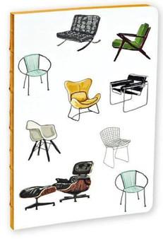 Mid Century Modern Chairs Notebook