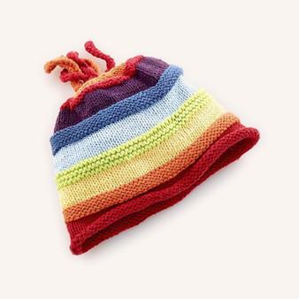 Rainbow Stripey Hat