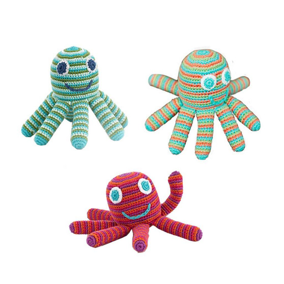 Striped Octopus Rattle