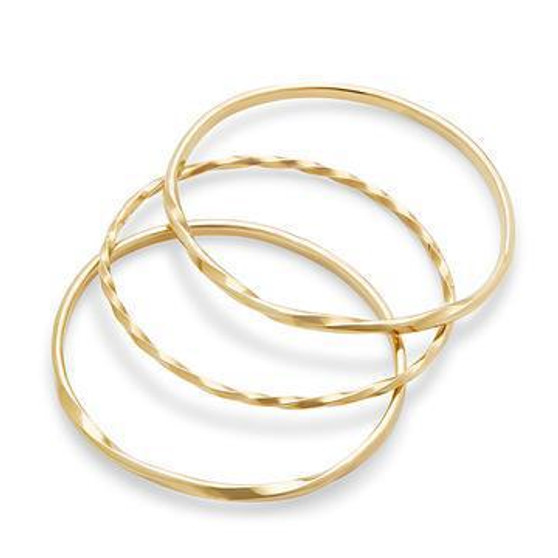 Twist Stacked Bangles