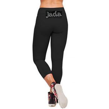 Personalised Lycra Black Leggings