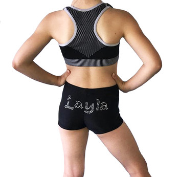 Personalised Lycra Black Shorts