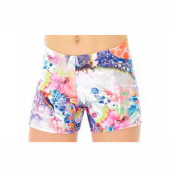 Mondor Flower Power Print Shorts