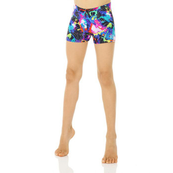 Mondor Paint Splash Print Shorts