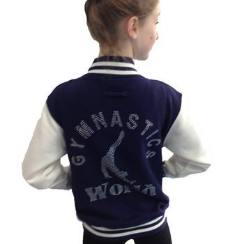 Kids College Jacket with Gymnast in Rhinestones