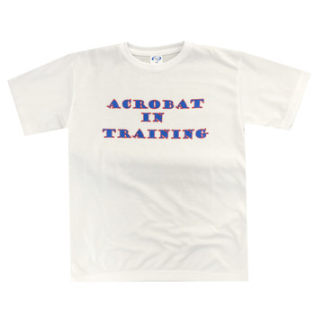 Acrobatics T Shirt with Blue and Red Gymnast Theme and Rhinestones