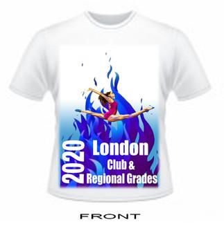 T Shirt London Gymnastics Club and Regional Grades  2020