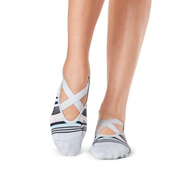 Tavi Noir Chloe Grip Socks In Flamingle