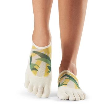 ToeSox Full Toe Luna - Grip Socks In Soleil