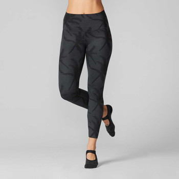 Tavi Noir High Waisted 7/8 Tight In Charcoal Palm