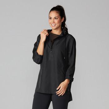 Tavi Noir Zip Front Pullover Jacket In Ebony