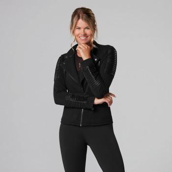 Tavi Noir Moto Jacket In Ebony