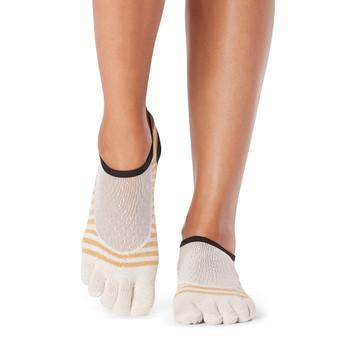 ToeSox Full Toe Luna - Grip Socks In Offset