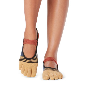 ToeSox Full Toe Mia - Grip Socks In Composition
