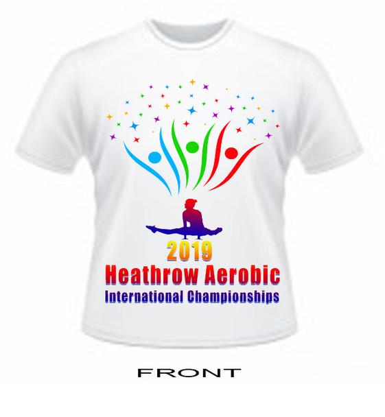 T Shirt Heathrow Aerobic  International Open 2019