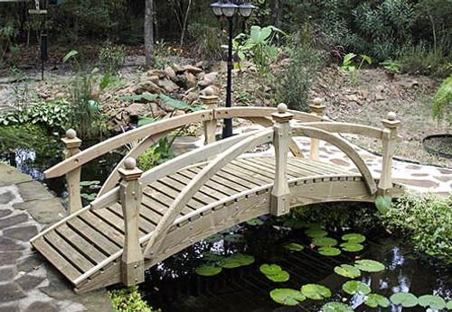 10' High Rail Garden Bridge