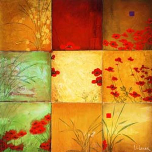 24 x 24 WeatherPrint - Poppy Nine Patch