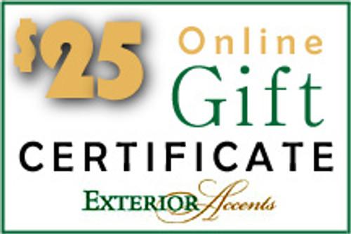$25 Online Gift Certificate