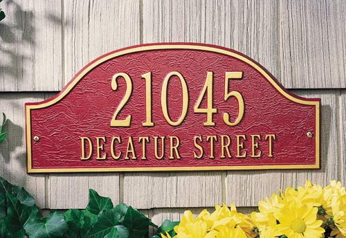 Admiral Wall Address Plaque (2 Lines)