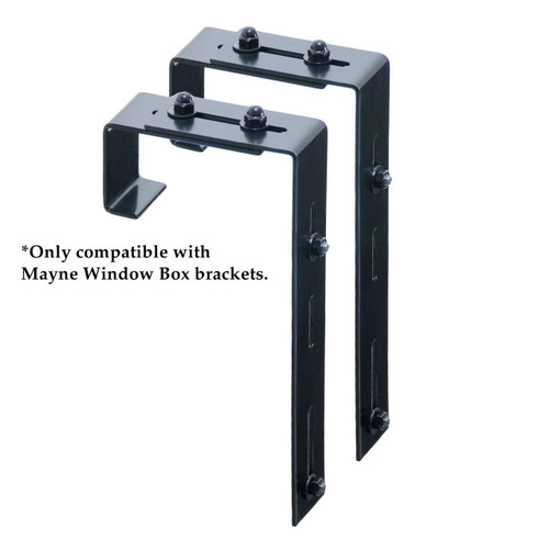 Mayne Adjustable Deck Rail Brackets (2 Pack)