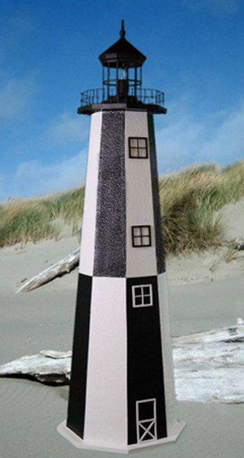 Cape Henry E-Line Stucco Lighthouse 3' High