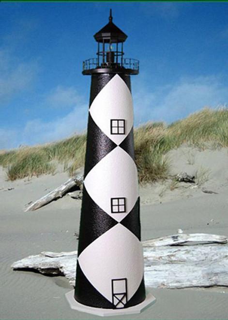 Cape Lookout E-Line Stucco Lighthouse (4')