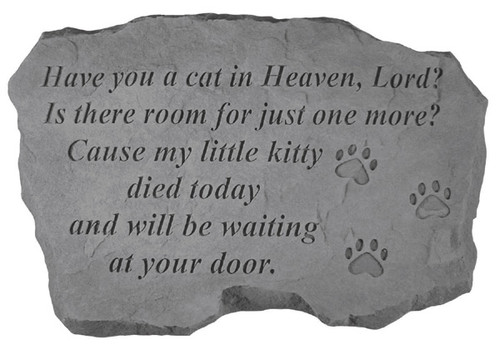 Cat In Heaven Pet Memorial Stone