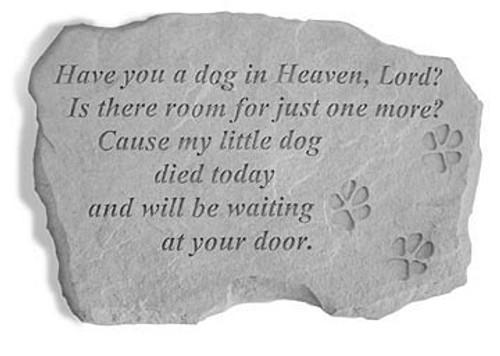 Dog In Heaven Pet Memorial Stone