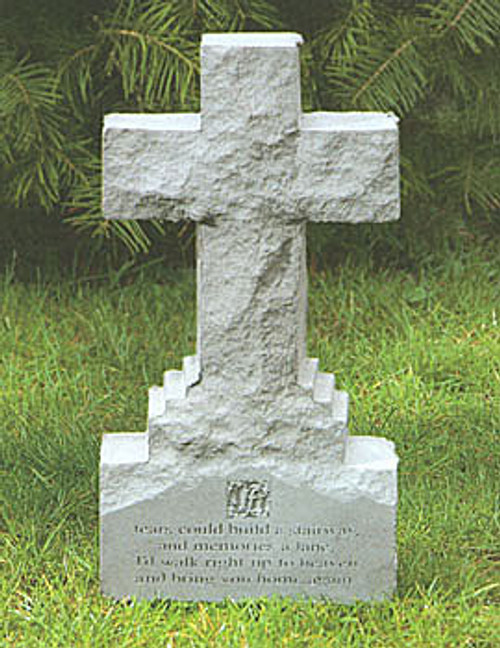 If Tears... Memorial Stone Cross