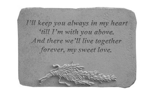I'll Keep You Always...w/Rosemary Memorial Stone