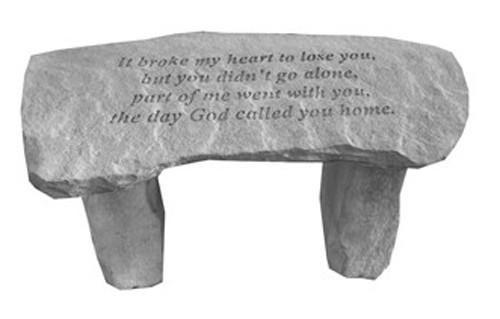 It Broke My Heart...Small Memorial Bench
