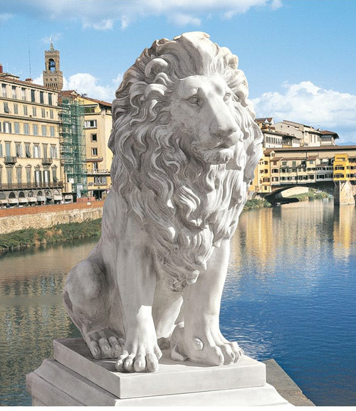 """Lion of Florence Sentinel Statue 28""""H"""