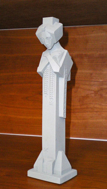 "Frank Lloyd Wright Midway Gardens Sprite Tabletop Sculpture 12""H"