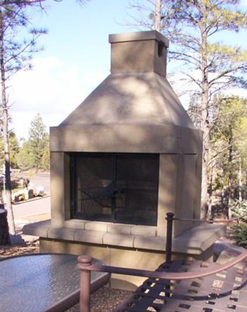 Mirage Stone Outdoor Woodburning Fireplace (Tan)