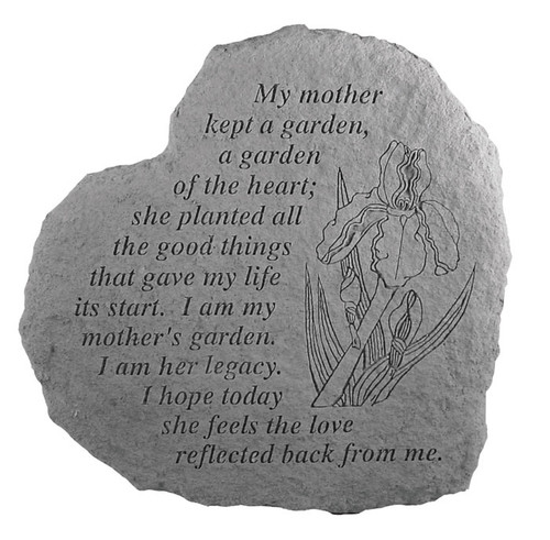 My Mother Kept a Garden... Memorial Stone