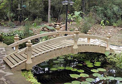 10' Low Rail Garden Bridge
