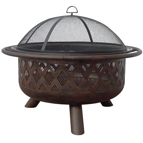 Oil Rubbed Bronze Fire Bowl (Criss-Cross)